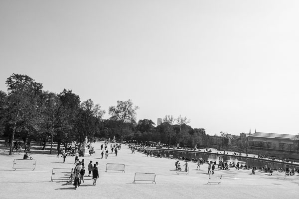 Photo du grand bassin octogone du Jardin des Tuileries
