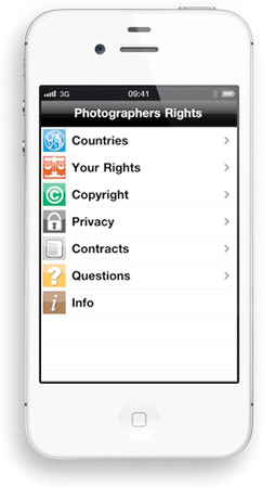 Application iPhone Photographers Rights