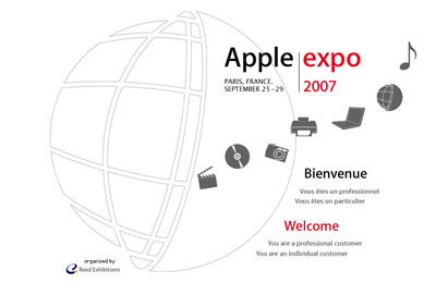 Apple Expo 2007 porte de Versaille Paris